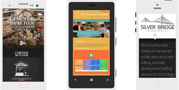 Responsive, mobile-ready web sites