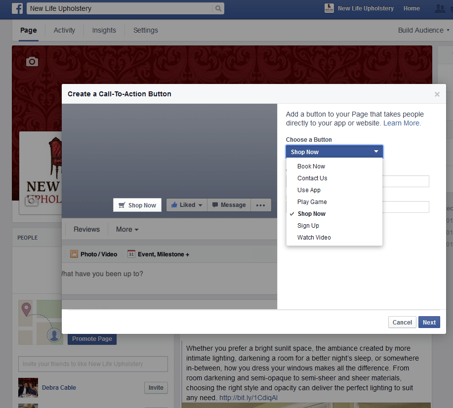 Add a Facebook Page Call-to-Action Button | Danielle Shaw