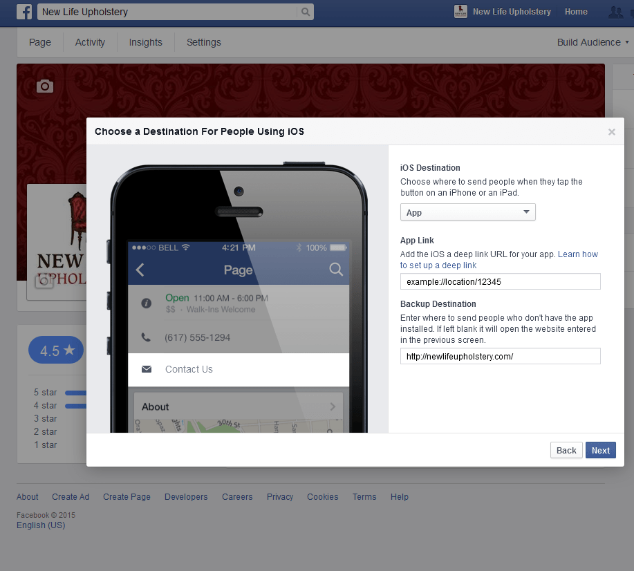 how to add call to action to facebook video