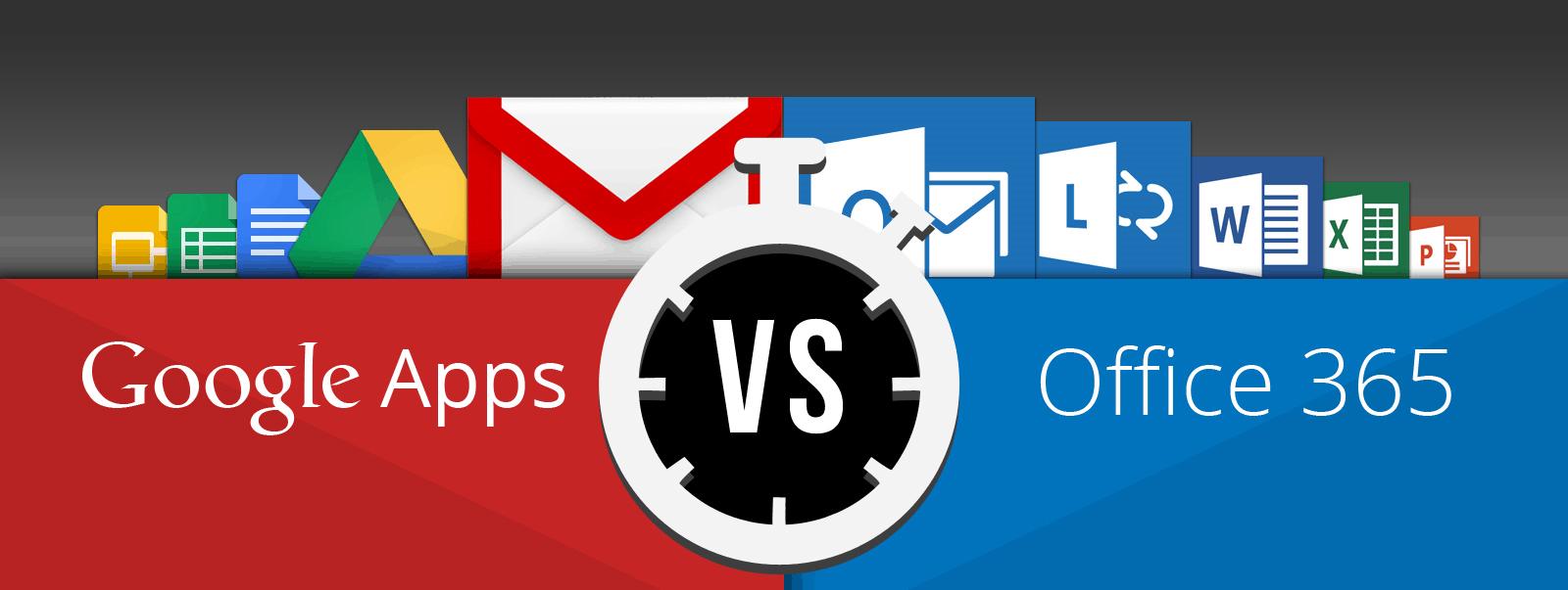 Google Apps vs Office 365   Web Design by Danielle Shaw