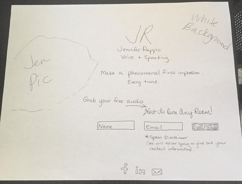 Jennifer Rappo Landing Page Drawing